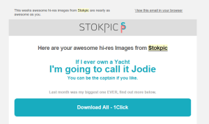 An example of the witty introductions from Stokpic. I love them!