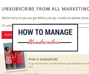 See how other companies manage unsubscribes
